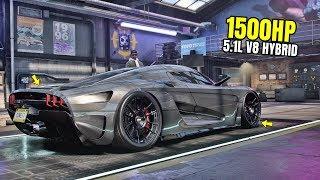 Need for Speed Heat Gameplay - 1500HP KOENIGSEGG REGERA Customization | Max Build 400+