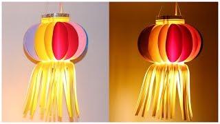 Easy Paper Lantern Akash kandil for Diwali   How to Make Paper Lantern