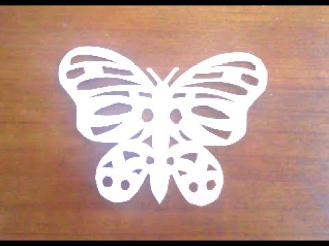 Butterfly Paper Cutting Easy Paper Cutting Craftsart Youtube