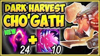 RIOT MESSED UP BIG TIME! CHO ULT + DARK HARVEST IS 100% BROKEN! CHO'GATH SEASON 9! League of Legends