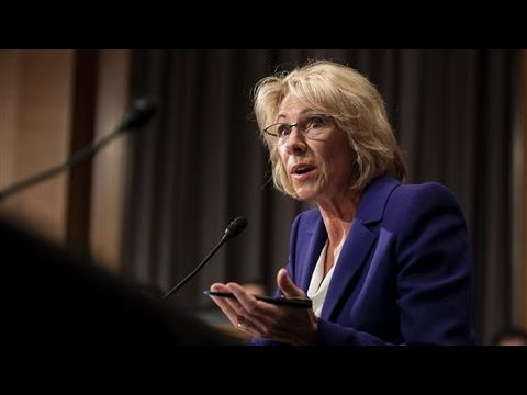 Betsy DeVos Questioned by Bernie Sanders on Wealth, Free Tuition