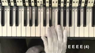 Piano 4 Kids JINGLE BELLS Easy Melody On Piano Lesson EricBlackmonMusicHD
