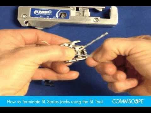 How to Terminate SL Series Jacks using the SL Tool - YouTube
