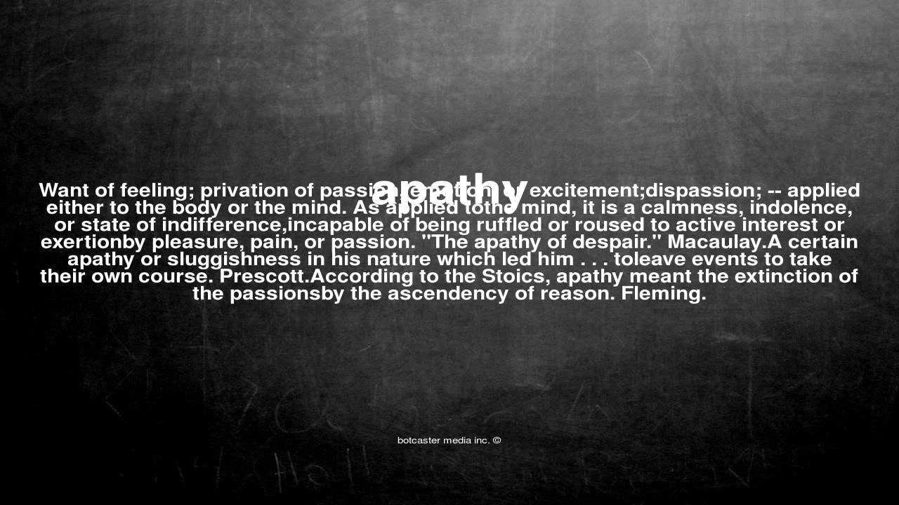 What is apathy 47