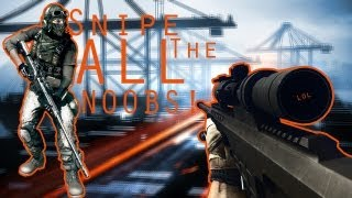 Battlefield 3: Snipe ALL the noobs!