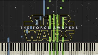 Star Wars: The Force Awakens - Trailer Music - Piano (Synthesia)