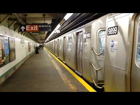 IND 6th Ave Line: R160A-2/R160B F Train at 23rd St