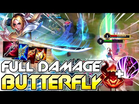 AoV BUTTERFLY-FULL DAMAGE BUILD+QUAD KILL | Top 1 Conqueror | Arena Of Valor / ROV / Liên Quân