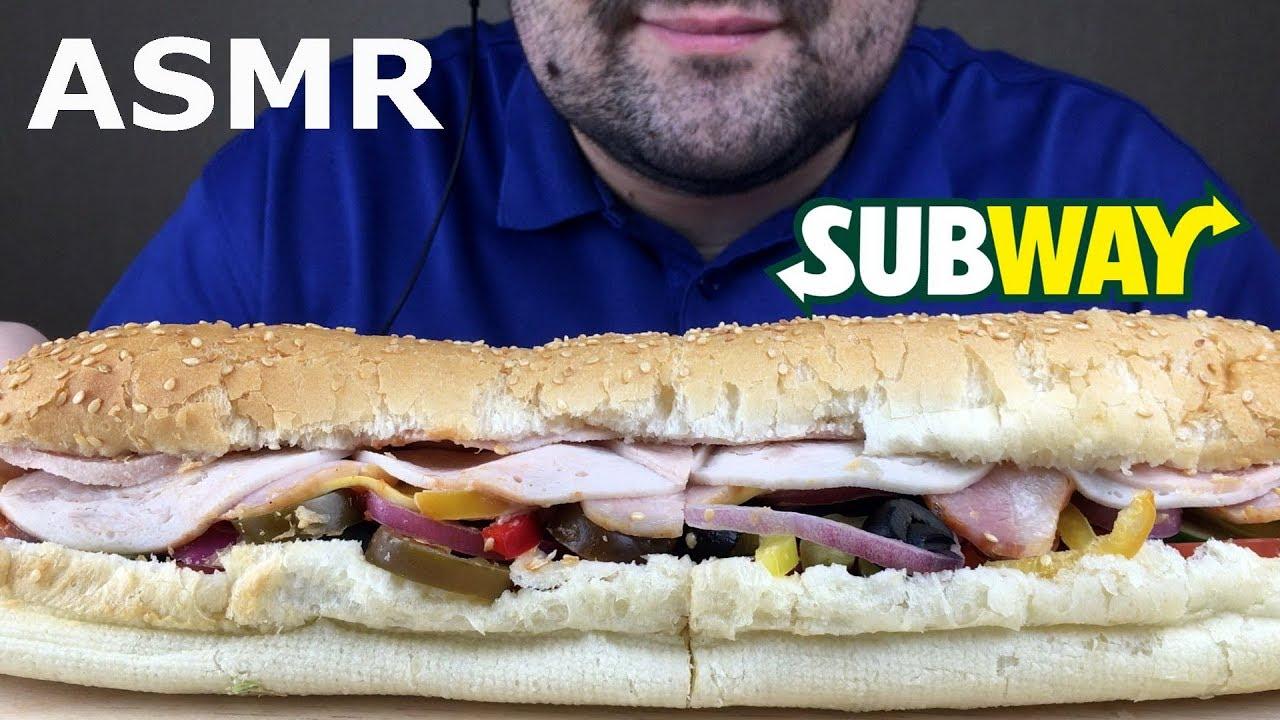 Asmr Subway Sandwich Eating Sounds Eating Show No Talking