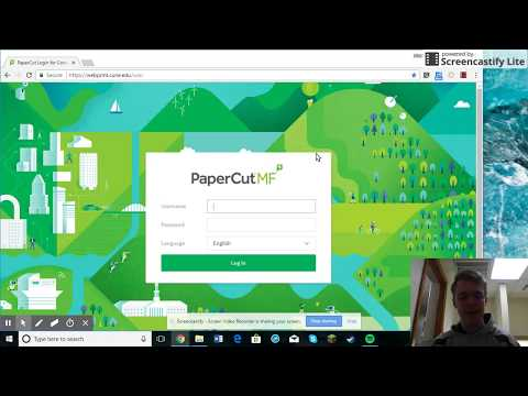 PaperCutMF Tutorial - Concordia University Nebraska