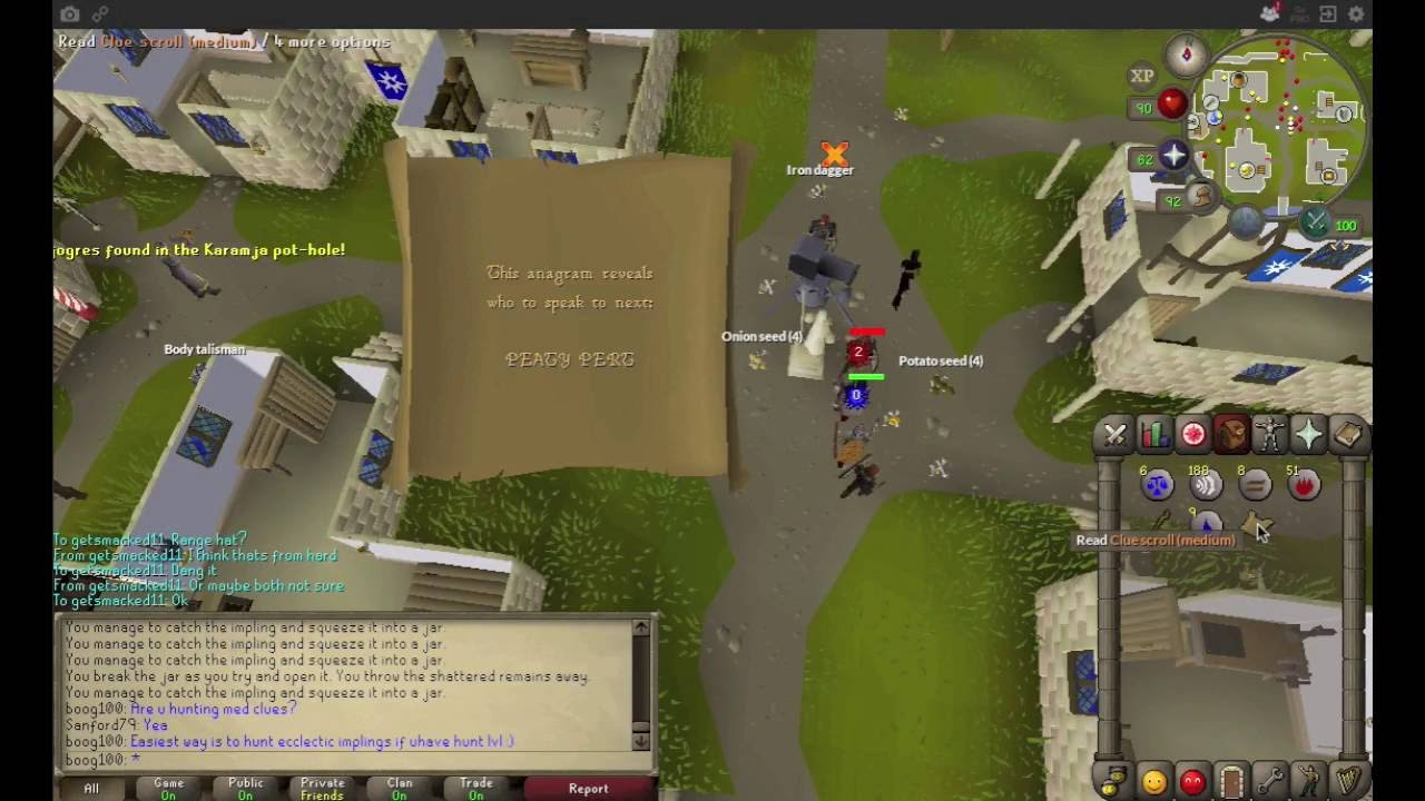 Anagrams clue scroll runescape