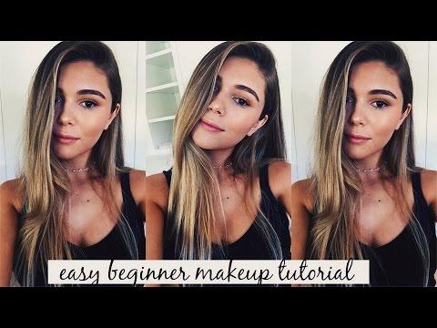 easy beginner makeup tutorial simple eyes  glowy skin l