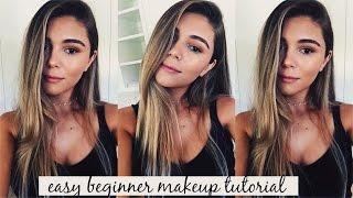 easy beginner makeup tutorial simple eyes glowy skin l olivia jade