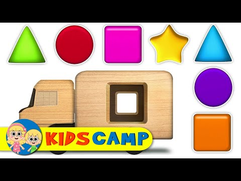 Learn Shapes With Wooden Monster Truck + More Learning Videos For Children