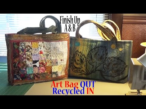 Art Tote Bag OUT, Recycled IN | Assemble Purse | Part 7(A&B) of 7 | Adv Project ZSA Tutorial