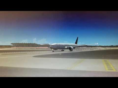 Microsoft Flight simulator X Star Alliance Air India Mumbai landing