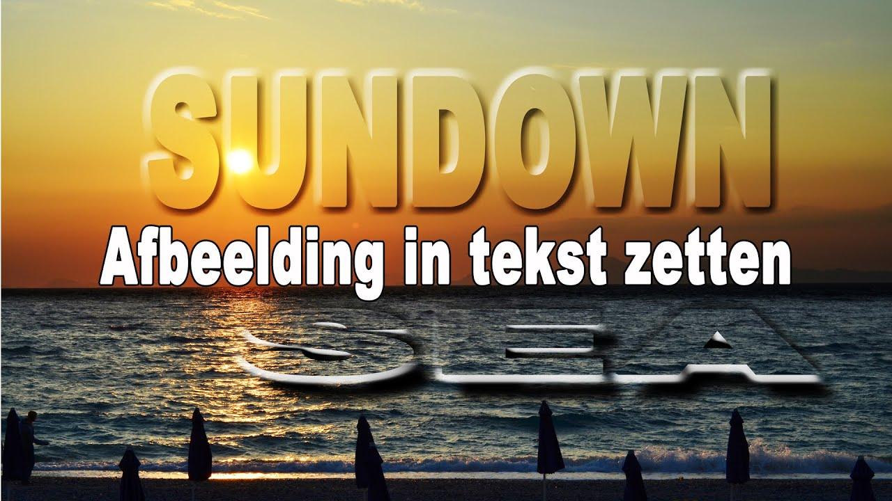 Afbeelding In Tekst Zetten Met Photoshop