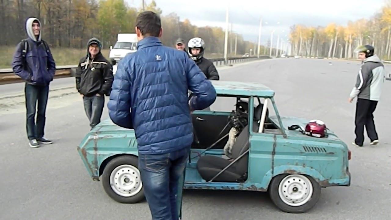 инвалидка с двигателем от спорт байка ч. 2 ( полная версия )
