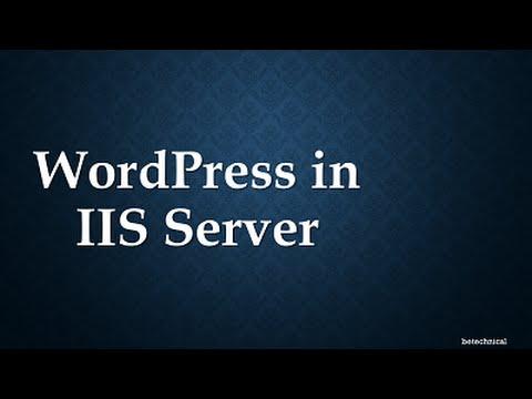 Move WordPress website to the windows environment