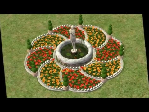 Удивительные формы красивых  цветочных клумб