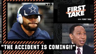 Stephen A. reacts to the Cowboys beating the Eagles: 'The accident is coming!' | First Take