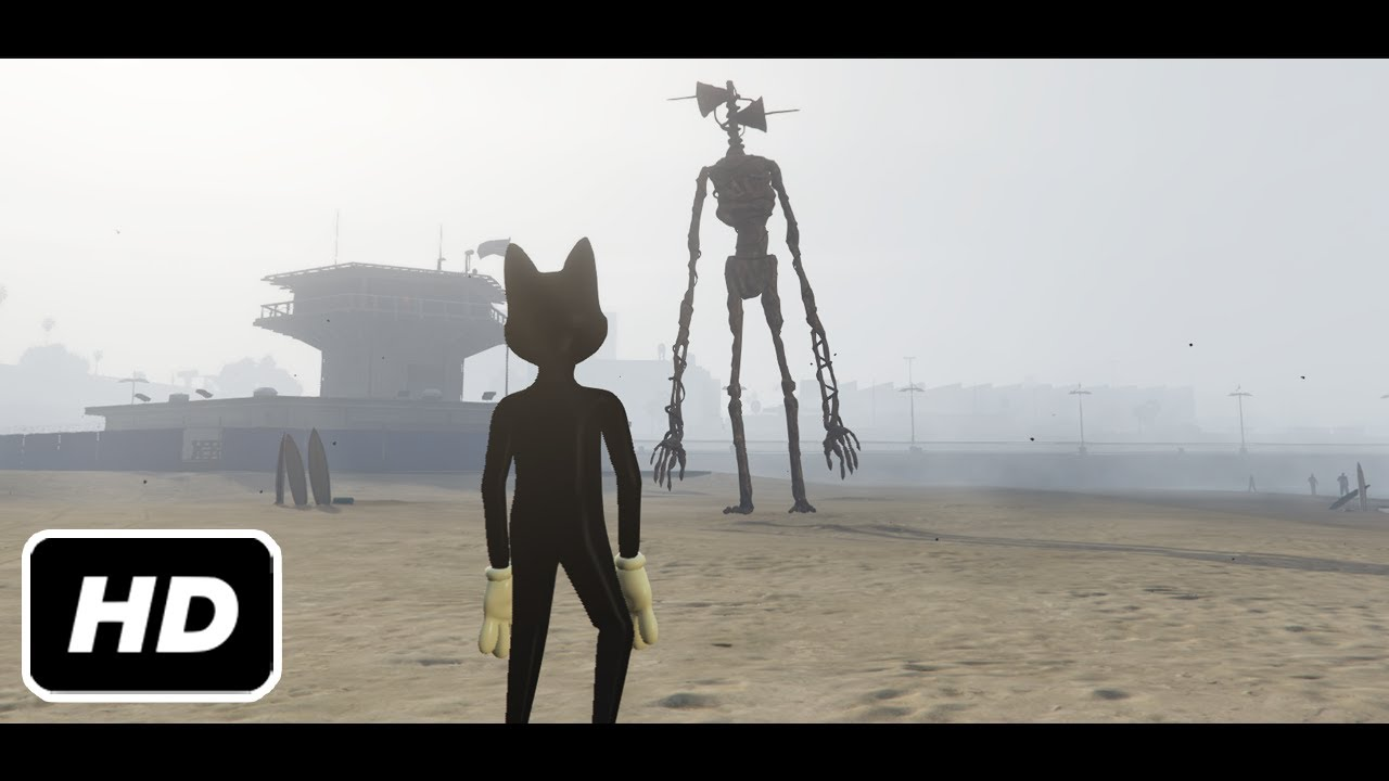 CARTOON CAT AND SIREN HEAD IN GTA 5 (THE MOVIE)