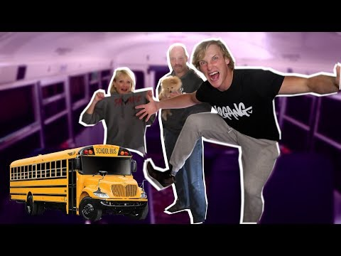 SCHOOL BUS 24 HR OVERNIGHT CHALLENGE! (w/ my divorced parents)