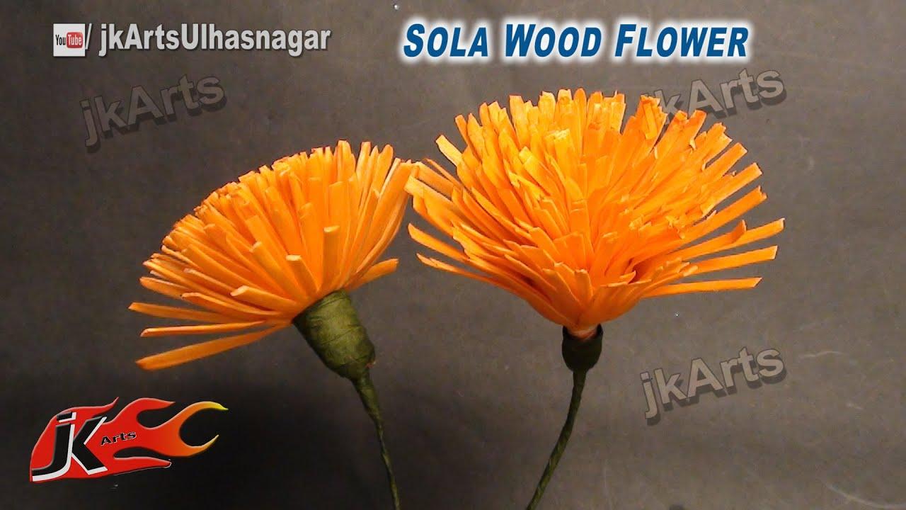 DIY Sola Wood Flower making | How to Make | JK Arts 620 - YouTube