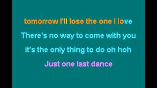 just one last dance -Sarah Conner Feat. Natural- Karaoke