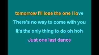 just one last dance -Sarah Conner Feat. Natural- Karaoke
