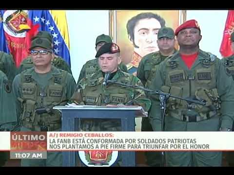 Fuerza Armada venezolana repudia acusaciones del Departamento de Justicia de EEUU contra Maduro
