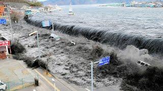 Гнев природы! Мощь цунами...