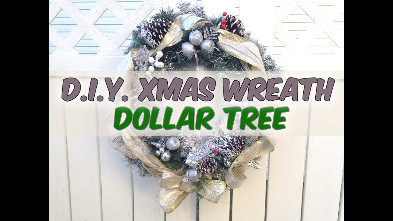 D I Y Christmas Wreath Makeover Dollar Tree Ornaments Holiday 2016