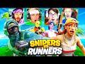 SNIPERS vs RUNNERS CHALLENGE with One Percent House ft. Kiwiz, Formula, Randumb, Nicks