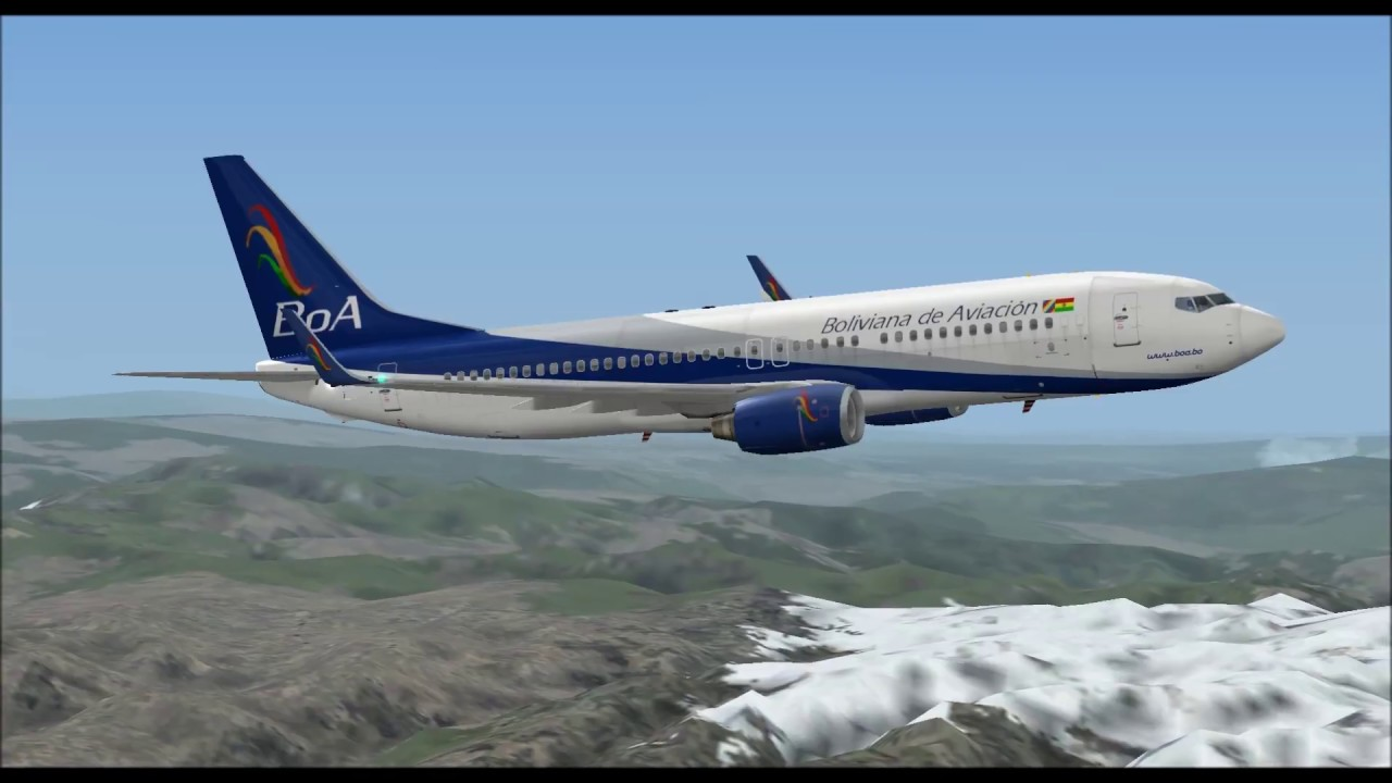 Boeing 737 800 Boliviana De Aviaci U00d3n Take Off From La Paz