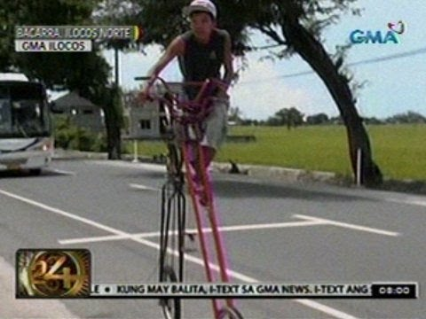 24 Oras: Bisikleta, may taas na 10 ft.