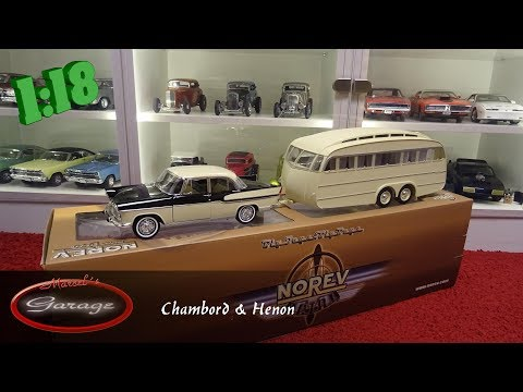 1:18 Norev Simca Chambord & Henon Camper trailer  review
