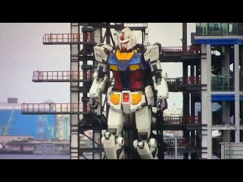 Gundam Factory Yokohama Robot Is 59-Feet Tall, Undergoing Tests In Japan's Yokohama Near Yokyo