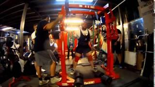 Squats With The Bulldog At Genesis Gym