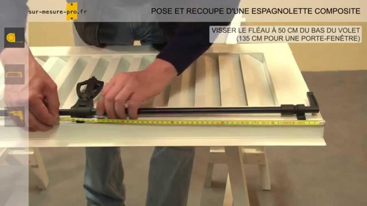 pose et recoupe espagnolette composite par sur mesure youtube. Black Bedroom Furniture Sets. Home Design Ideas