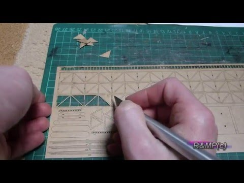 Building a Laser Cut Kit – PT1 of 2 ( Telecommunications mast & R.E.B. Cabin)