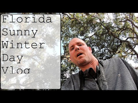 Florida Sunny Winter Day Vlog GoPro with Ian Outdoors under the Oak Trees