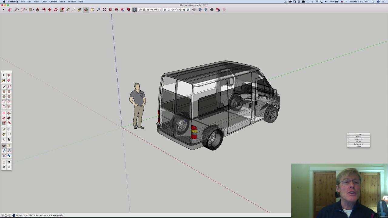 2016 Ford Transit >> Antonio's Ford Transit & SketchUp - YouTube