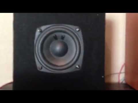 Homemade 4 inch subwoofer enclosure - YouTube on homemade speaker designs, car audio speaker box designs, custom subwoofer box designs, homemade car designs,