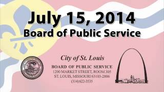Board of Public Service   July 15 2014