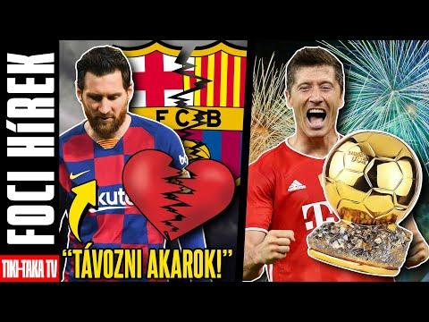 Messi döntött: Távozni akar a Barcelonától!!! Aranylabdát Robert Lewandowskinak!