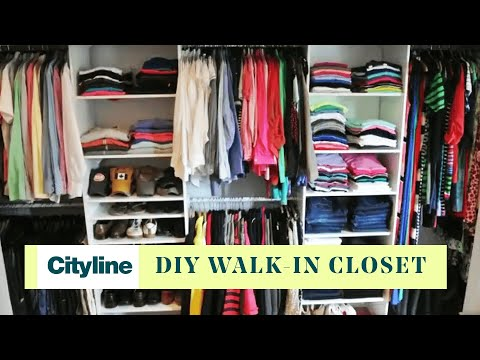 How to turn your small room into a walk-in closet