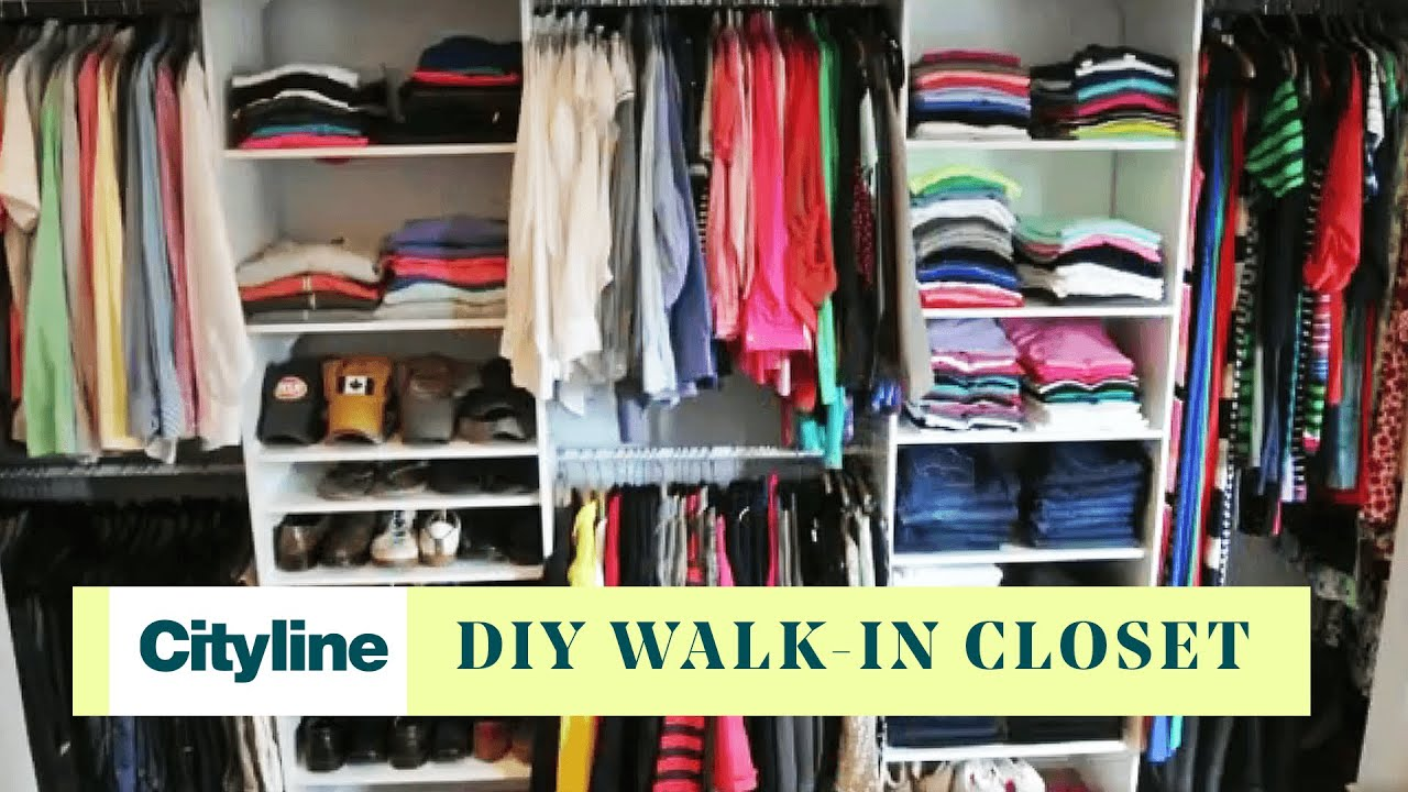 How To Turn Your Small Room Into A Walk In Closet Youtube