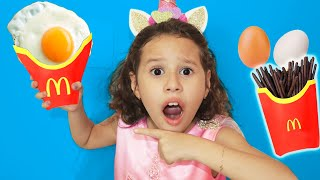 Valentina finge ser vendedora do McDonald's ★  Magic McDonald's Happy Meal