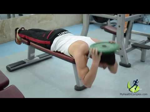 Lying Face Down Plate Neck Resistance (Fitness Model And Trainer Ed Igityan)
